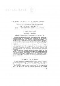 Vergleichende histologische Untersuchungen über die Lymphknoten der Säugetiere / M. Moskov, N. Ilkov, T. Schiwatschewa