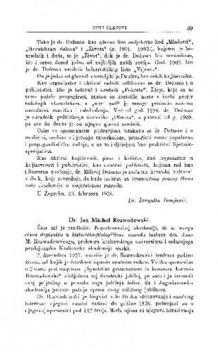 Dr. Jan Michal Rozwadowski / S. Ivšić