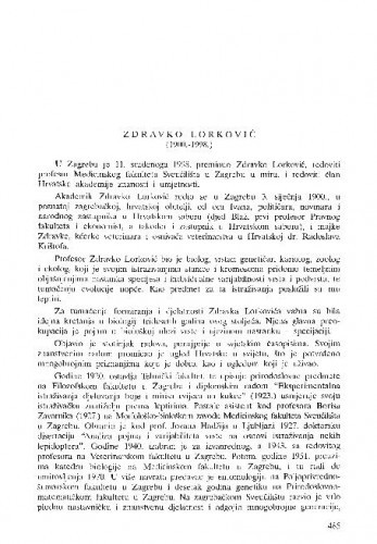 Zdravko Lorković (1900.-1998.) / Milan Meštrov