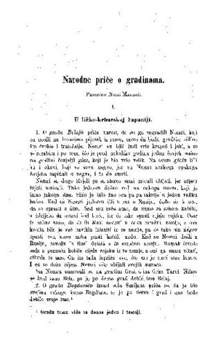 Narodne priče o gradinama / M. Magdić