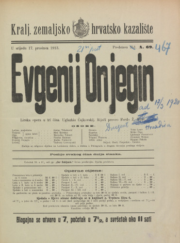 Evgenij Onjegin Lirska opera u tri čina