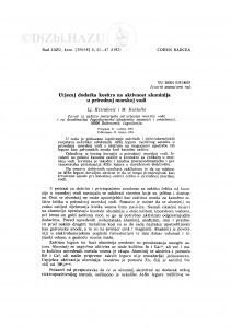 Utjecaj dodatka kositra na aktivnost aluminija u prirodnoj morskoj vodi / Lj. Krstulović, M. Karšulin