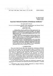 Important industrial synthesis of betalctam antibiotics / M. Japelj, N. Vitezić