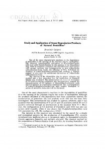 Study and application of some degradation products of natural penicillins / B. Gašpert