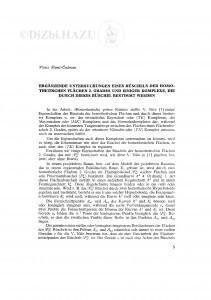 Ergänzende Untersuchungen eines Büschels der homothetischen Flächen 2. Grades und einiger Komplexe, die durch dieses Büschel bestimmt werden / V. Ščurić-Čudovan