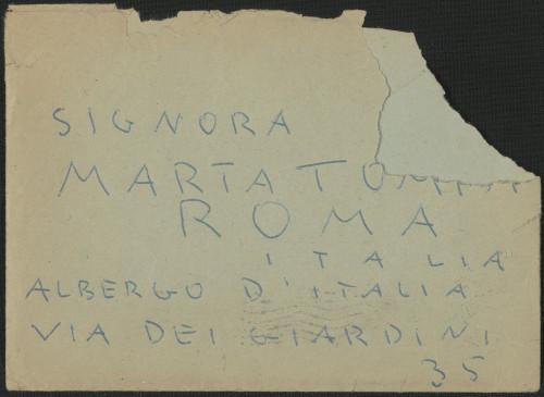 Pismo Kamila Tompe Marti Ehrlich, Zagreb, 20.11.1954.