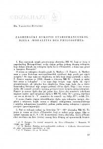 "Zagrebački rukopis starofrancuskog djela ""Moralités des philosophes"" / V. Putanec"