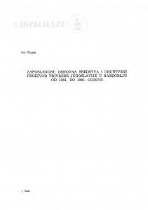 Zaposlenost, osnovna sredstva i društveni proizvod Jugoslavije u razdoblju od 1961. do 1981. godine / Ivo Vinski
