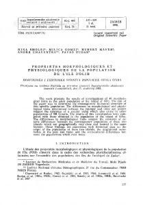 Propriétés morphologiques et physiologiques de la population de l'île d'Olib / Nina Smolej, Milica Gomzi, Hubert Maver, André Chaventre, Pavao  Rudan