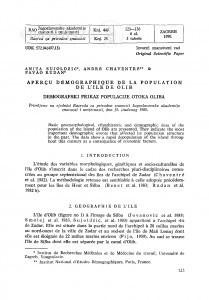 Aperçu démographique de la population de l'île de Olib / Anita Sujoldžić, André Chaventre, Pavao  Rudan
