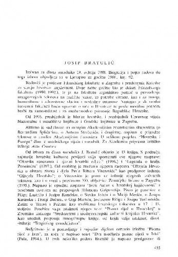 Josip Bratulić
