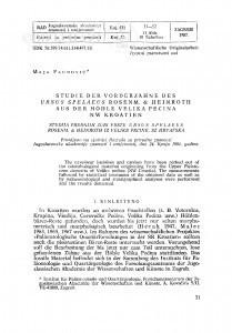 Studie der Vorderzaehne des Ursus spelaeus Rosenm. & Heinroth aus der Hoehle Velika Pećina, NW Kroatien / M. Paunović