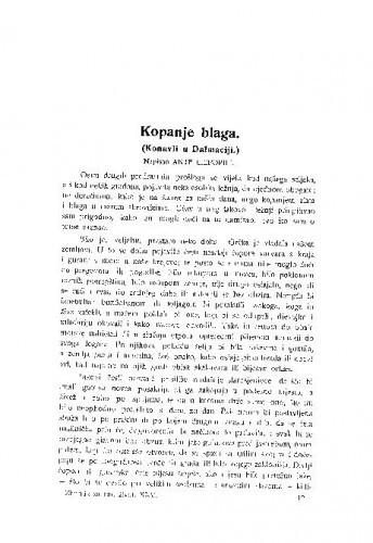 Kopanje blaga : (Konavli u Dalmaciji.) / A. Liepopili