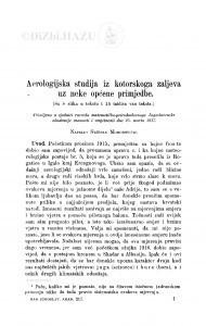 Aerologijska studija iz katorskoga zaljeva uz neke općene primjedbe / S. Mohorovičić