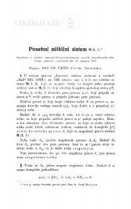 Posebni ništični sistem (2, 1) / J. de Vries