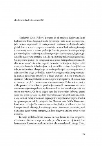 Riječ na komemoraciji / Andre Mohorovičić