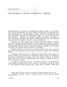 Edo Kovačević : u povodu retrospektive u Zagrebu / Eugen Franković