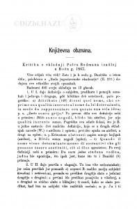 Kritika o skladnji Petra Budmana izašloj u Beču g. 1867 : [književna obznana] / A. Veber