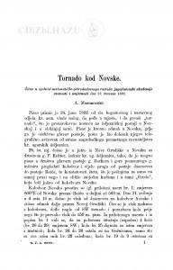 Tornado kod Novske / A. Mohorovičić