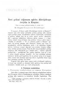 Novi prilozi čeljusnom zglobu diluvijalnoga čovjeka iz Krapine / D. Gorjanović-Kramberger