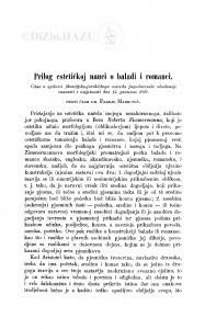 Prilog estetičkoj nauci o baladi i romanci / F. Marković