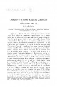 Autorstvo pjesama Rańinina Zbornika / M. Rešetar