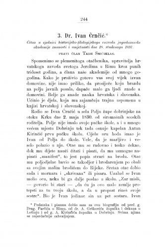 Dr. Ivan Črnčić : [nekrolog.] / T. Smičiklas