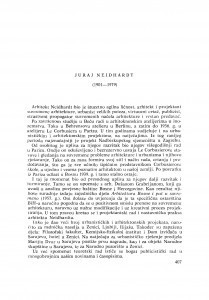 Juraj Neidhardt (1901-1979) : [nekrolozi] / J. Seissel