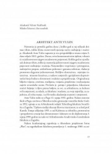 Arhitekt Ante Vulin / Velimir Neidhardt, Mladen Šćitaroci