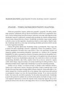Znanje - temelj konkurentnosti i razvoja : [uvodno izlaganje] / Jakša Barbić