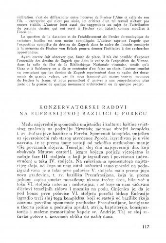 Konzervatorski radovi na Eufrasijevoj bazilici u Poreču / Andre Mohorovičić