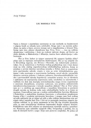 Lik maršala Tita / J. Vidmar