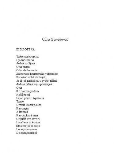 [Pjesme]Olja Savičević