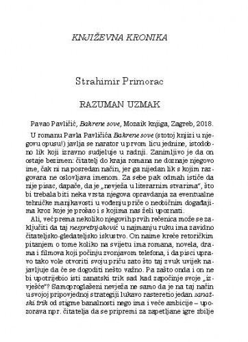 Književna kronika / Strahimir Primorac