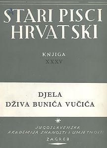 Djela Dživa Bunića Vučića / priredio Milan Ratković
