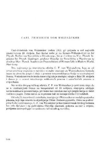 Carl-Friedrich von Weizsäcker