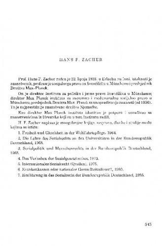 Hans F. Zacher
