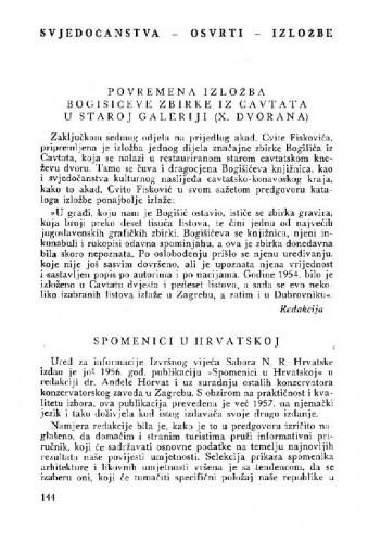 Spomenici u Hrvatskoj / M. Despot