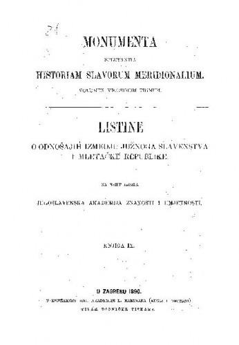 Knj. 9 : Od godine 1423 do 1452 / skupio Sime Ljubić