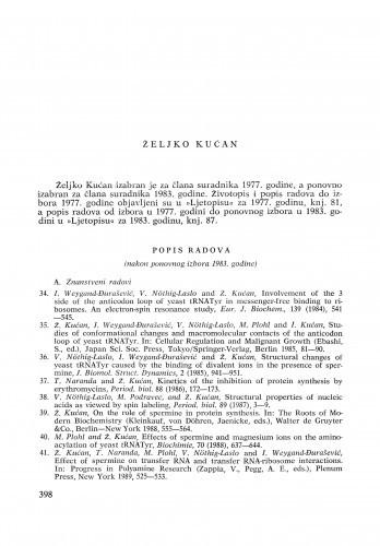Željko Kućan : [biografije novih članova Akademije]