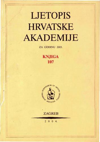 2003. Knj. 107 / urednik Andrija Kaštelan