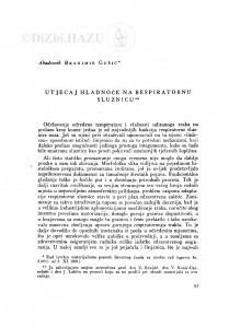 Utjecaj hladnoće na respiratornu sluznicu / B. Gušić