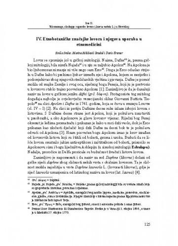 Etnobotaničke značajke lovora i njegova uporaba u etnomedicini / Siniša Srečec, Marina Milićević Bradač, Dario Kremer