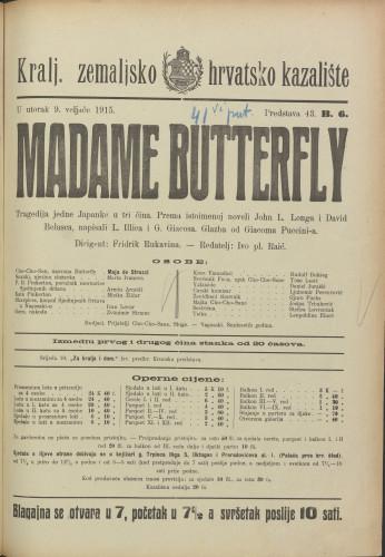Madame Butterfly : Tragedija jedne Japanke u tri čina