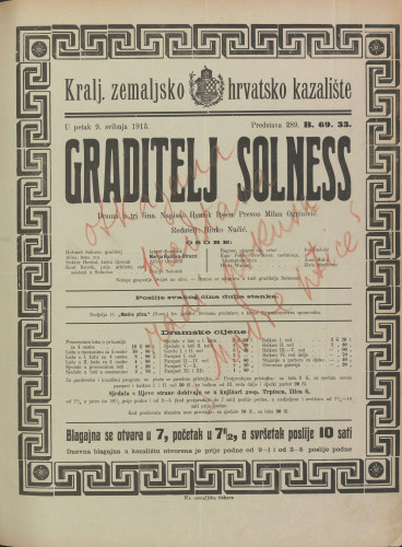 Graditelj Solness Drama u tri čina