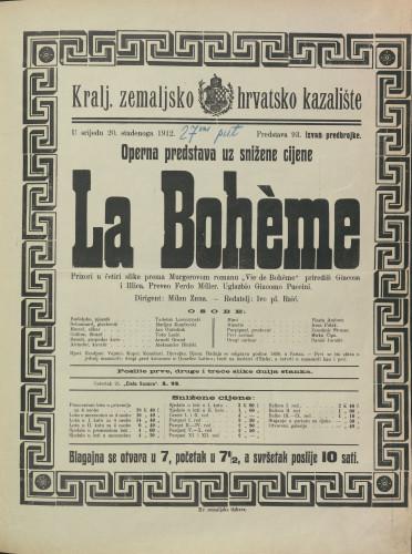 La Bohème : Prizori u četiri slike