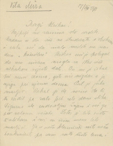 Pismo Naste Rojc Antunu Ullrichu, Crikvenica, Vila Mira, 27.8.1914.