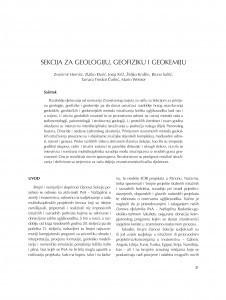 Sekcija za geologiju, geofiziku i geokemiju