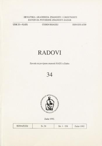Sv. 34(1992) / odgovorni urednik Mate Suić