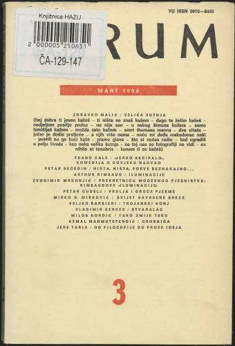 God. 19(1980), knj. 39, br. 3 / glavni i odgovorni urednik Marijan Matković